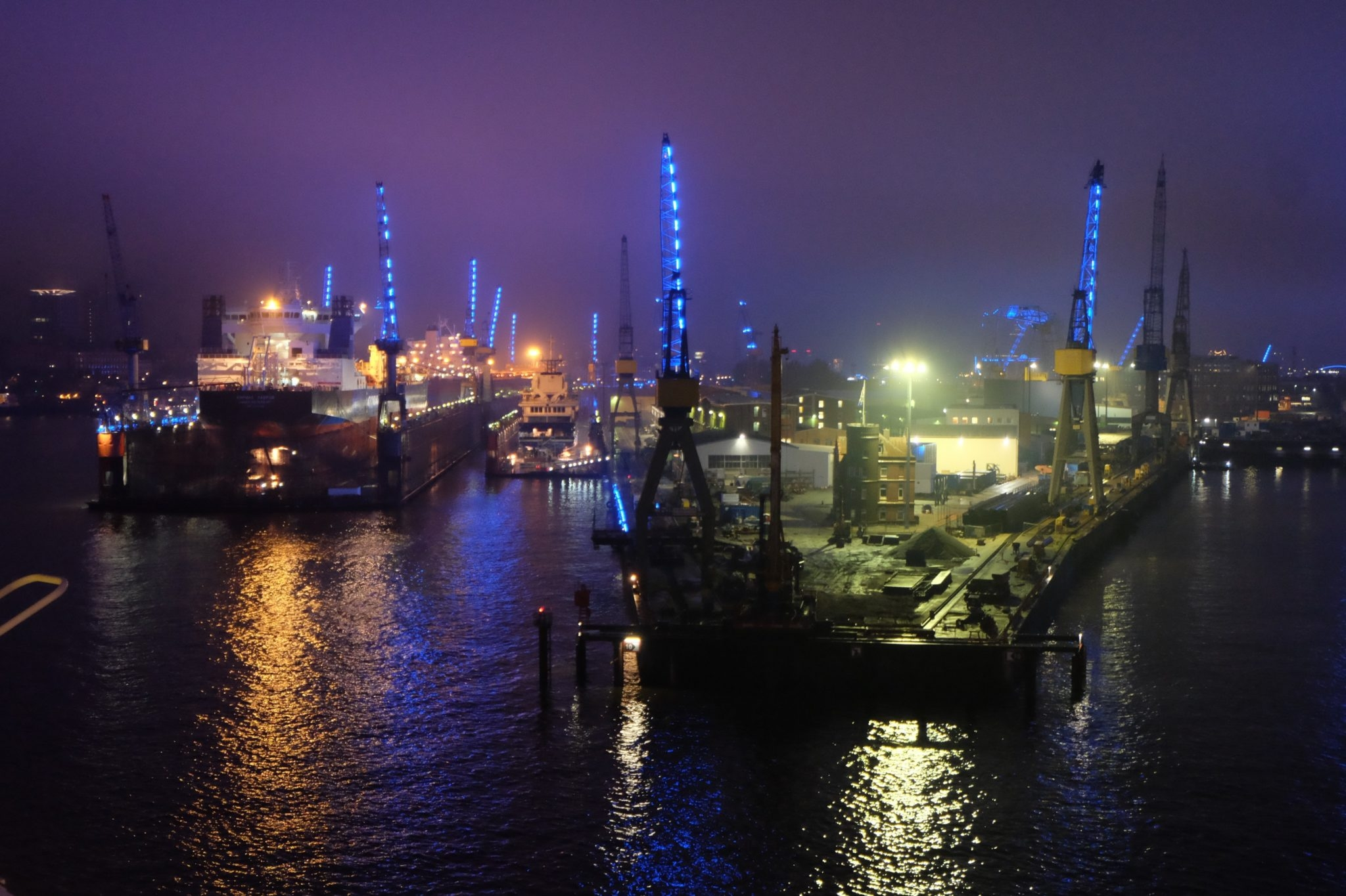 Hamburger Hafen Nacht