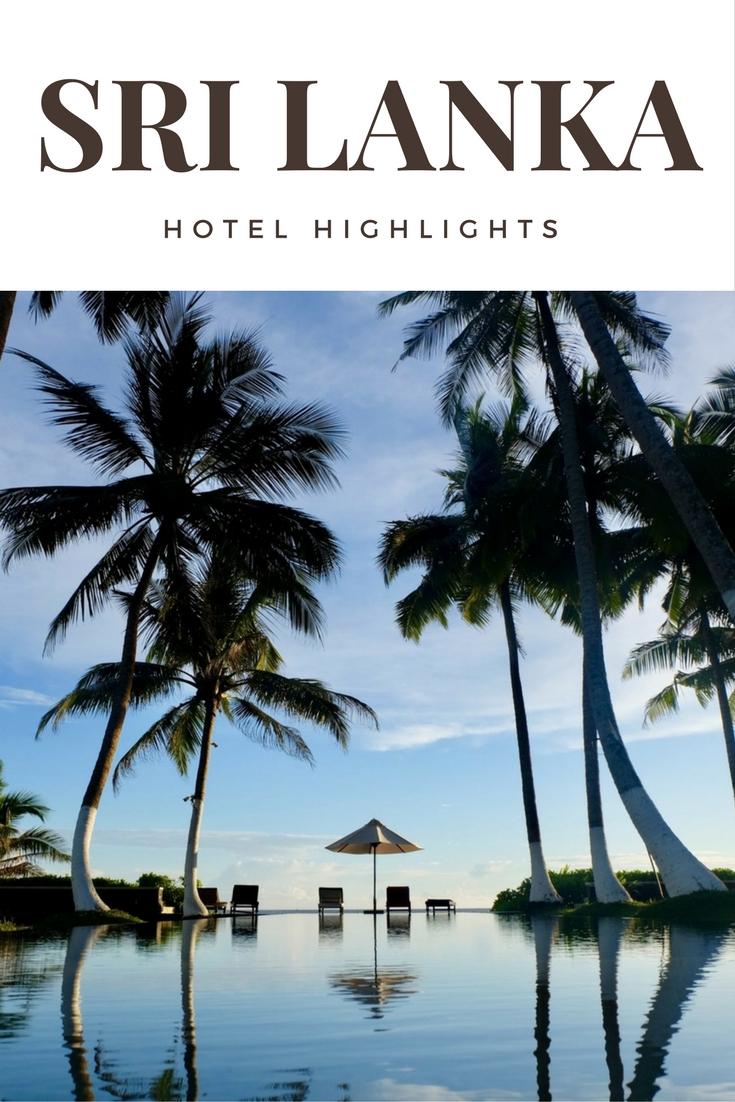 SRI LANKA Hotel Highlights Pinterest