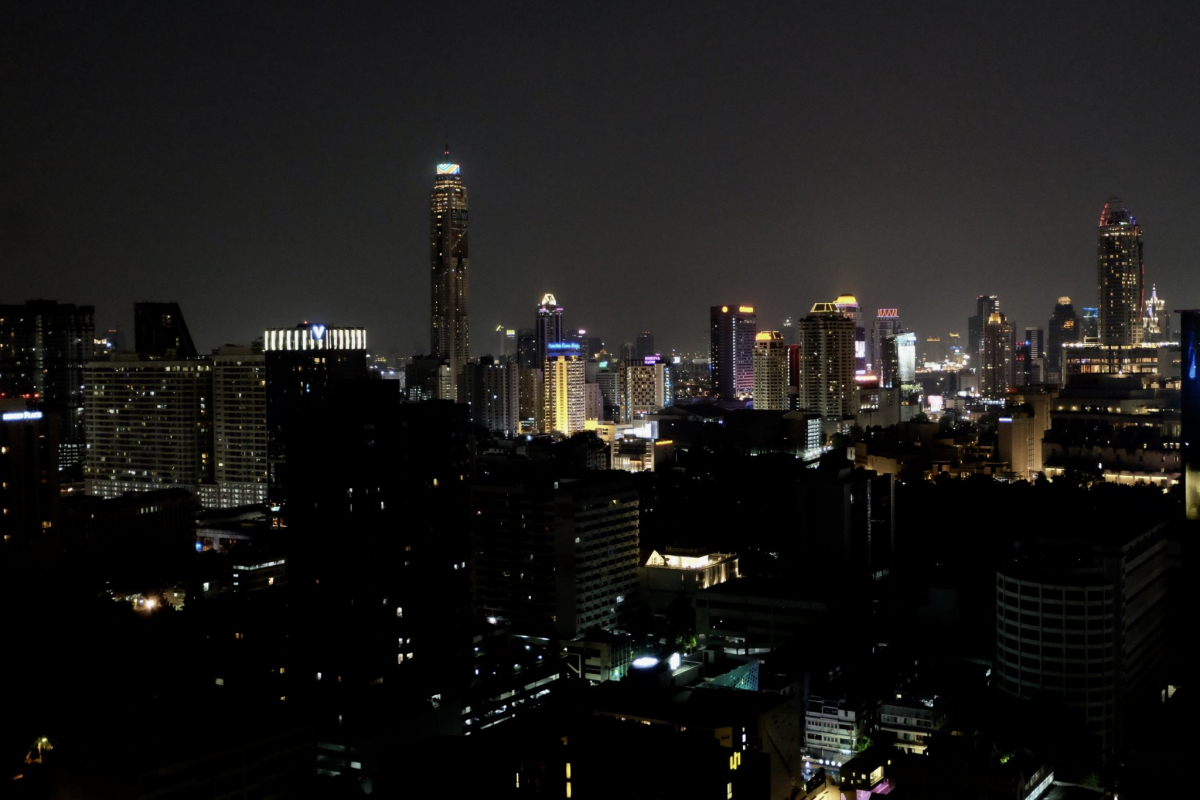 Ausblick Chao Hostel Bangkok