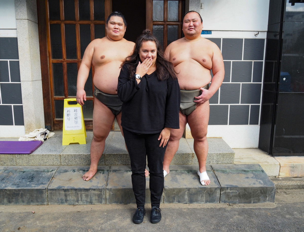 Sumo Fighter and Evelyn