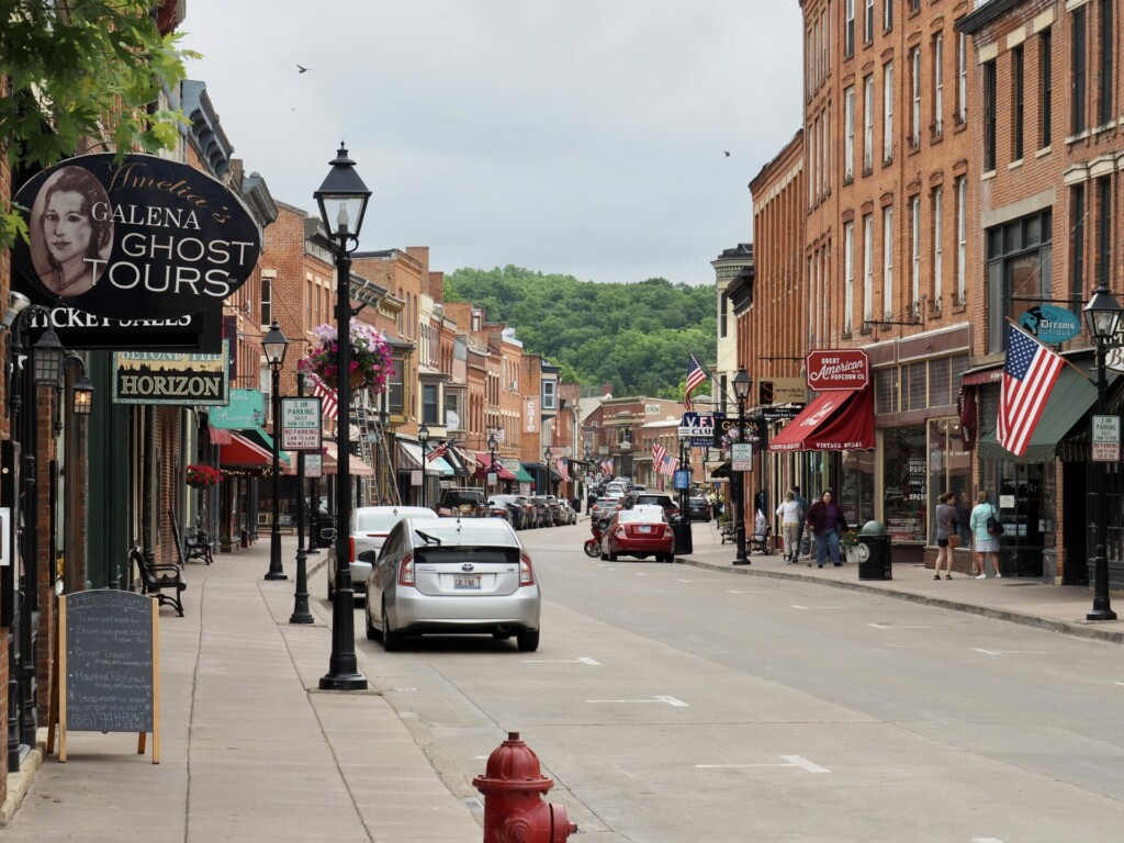 Main Street Galena Illinois USA