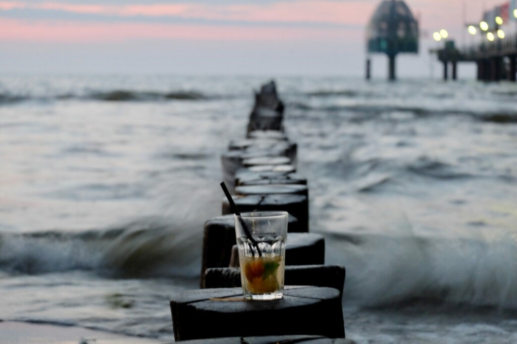 Zingst Strand Ostsee Sonnenuntergang
