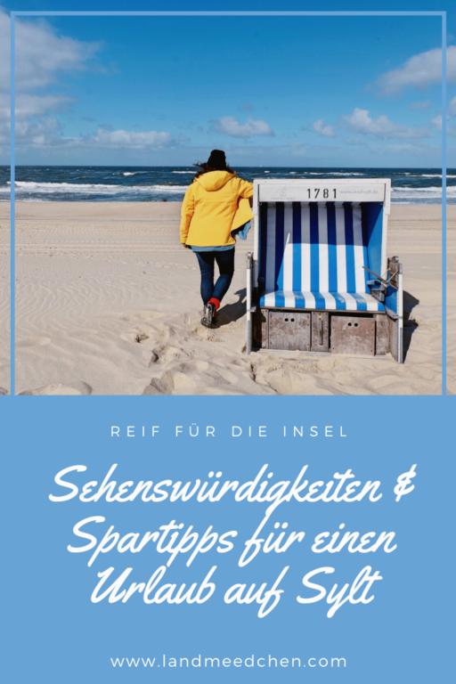 Sehenswürdigkeiten und Spartipps Sylt Pinterest