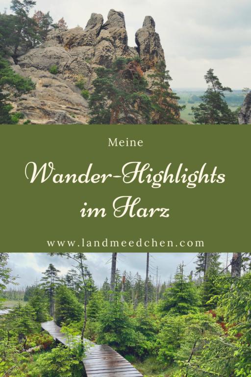 Wanderhighlights Harz Pinterest