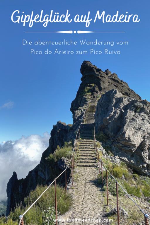 Gipfelglück Madeira Pinterest