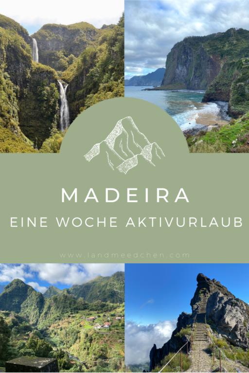 Madeira Aktivurlaub Pinterest