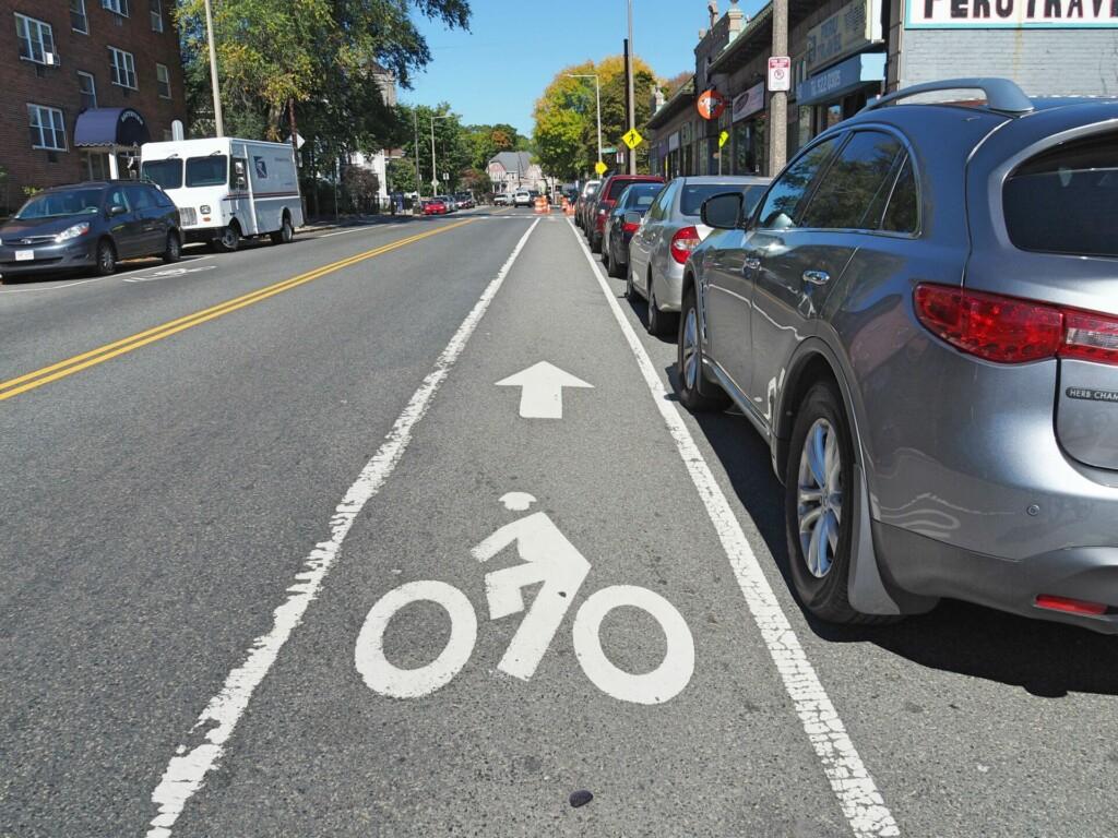 Bike lane Boston