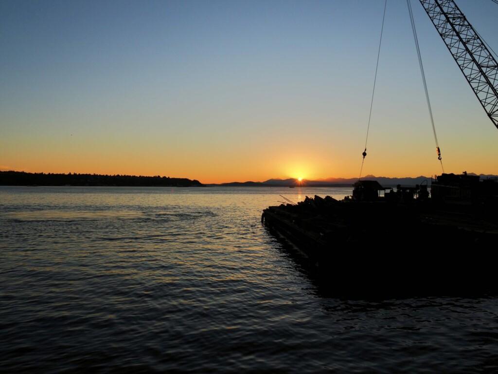 Seattle Waterfront Sunset