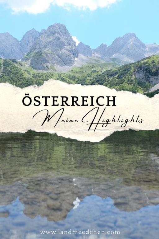 Österreich Meine Highlights Pinterest
